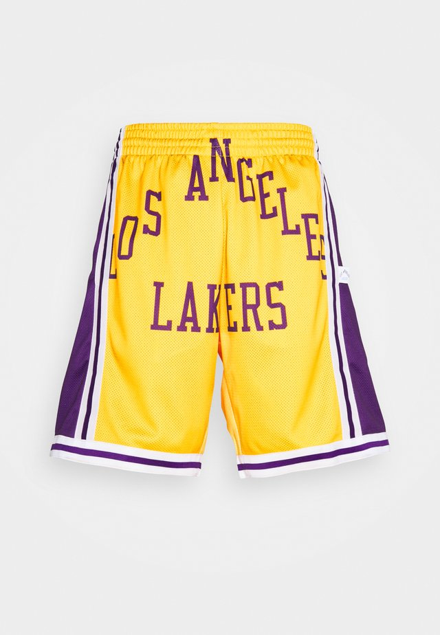 NBA LOS ANGELES LAKERS BIG FACE BLOWN OUT FASHION SHORT - Article de supporter - yellow