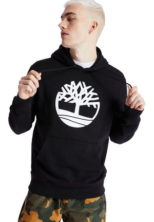 CORE TREE LOGO - Bluza z kapturem - black-white
