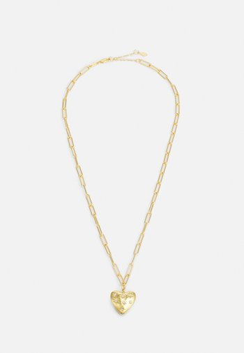 PUFFY HEART PENDANT EMBEDDED STARS - Necklace - gold-coloured
