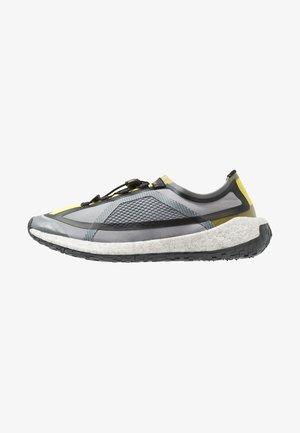 PUREBOOST HD SPORT RUNNING SHOES - Neutral running shoes - iron metallic/vivid yellow/solar orange