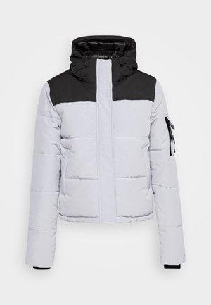 QUILTED EVEREST JACKET - Zimní bunda - light grey