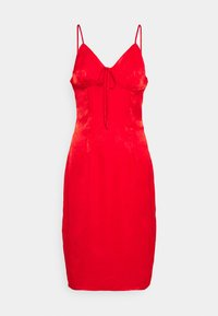 Missguided Petite - TIE BUST MIDAXI DRESS - Cocktailkjole - red - 0