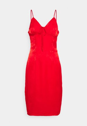 TIE BUST MIDAXI DRESS - Cocktail dress / Party dress - red