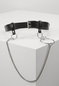 Topshop - PRONG CHAIN BELT - Bælter - black - 0
