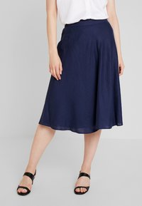 Esprit Collection - SOLID - A-line skirt - navy - 0