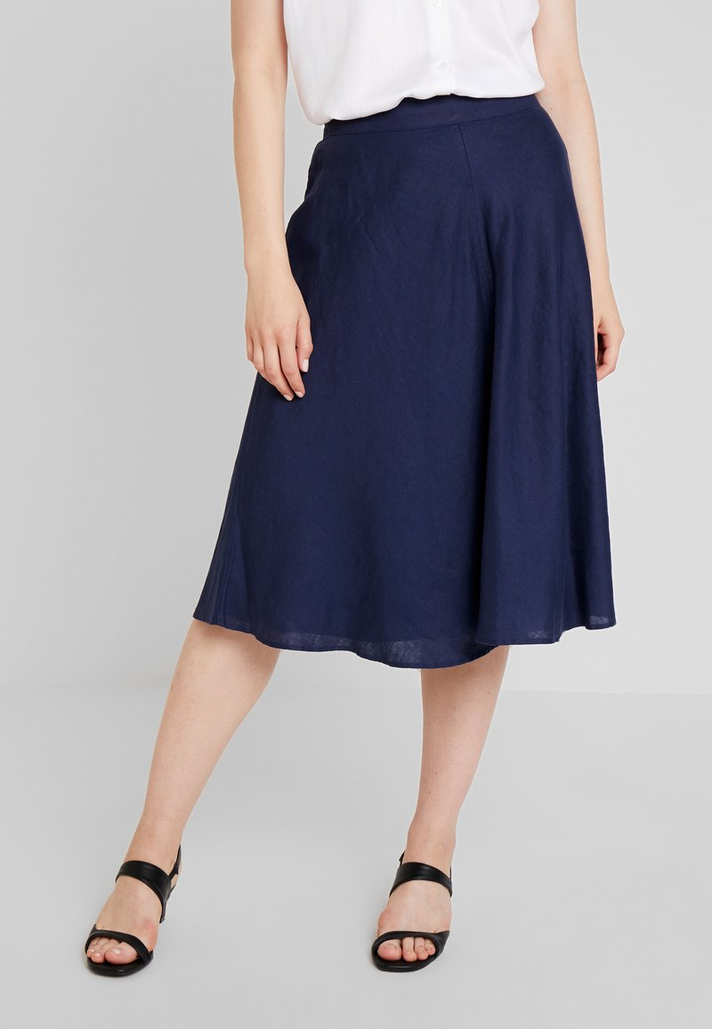 Esprit Collection - SOLID - A-line skirt - navy