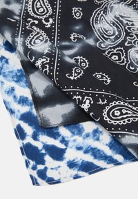Zign - UNISEX 2 PACK - Foulard - black/blue - 2