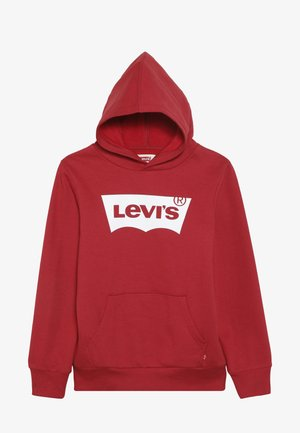 BATWING SCREENPRINT HOODIE - Hoodie - red/white
