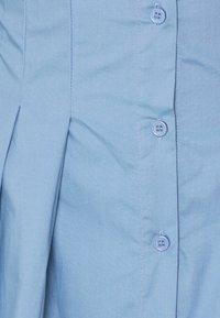 Missguided - CORSET WAIST BACK SHIRT DRESS POPLIN - Shirt dress - blue - 2