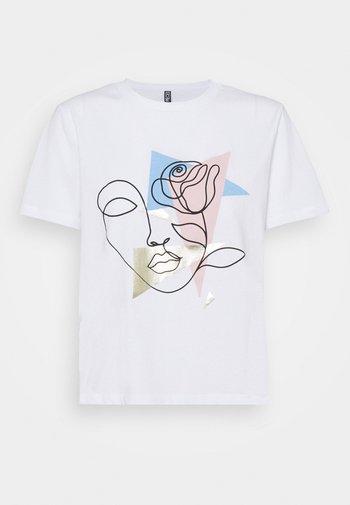 PCCETE TEE  - Print T-shirt - bright white