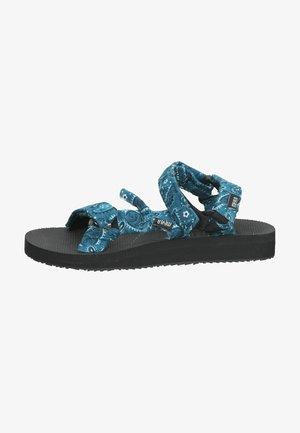 Sandalen met plateauzool - bandana petrol