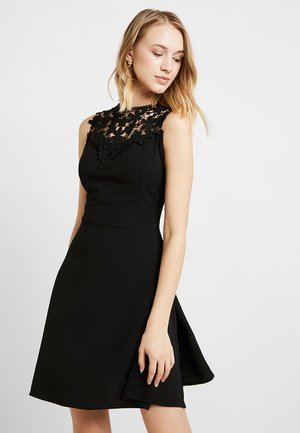 BUST SKATER DRESS - Korte jurk - black