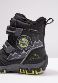 Kappa - RESCUE TEX - Winter boots - black/lime - 2