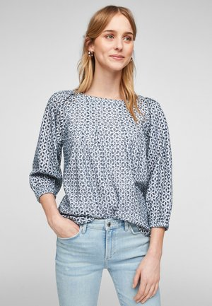 Blouse - blue embroidery