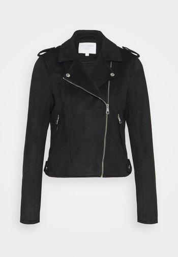 BIKER JACKET - Faux leather jacket - deep black