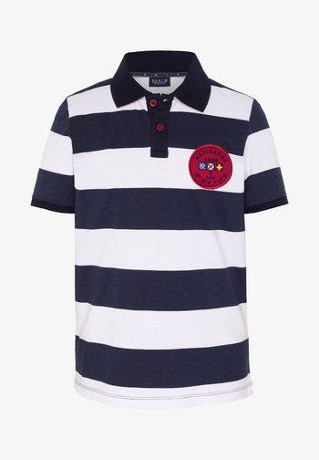 Polo shirt - white/dark blue
