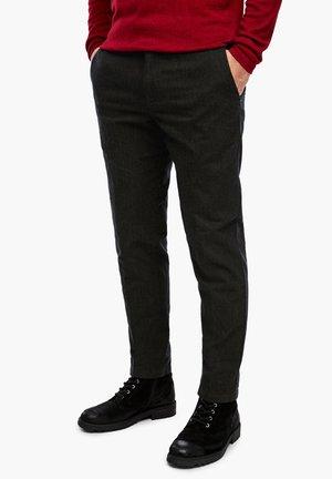 Trousers - brown heringbone