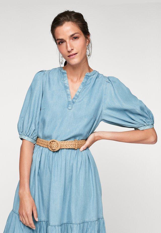 Długa sukienka - blue lagoon denim