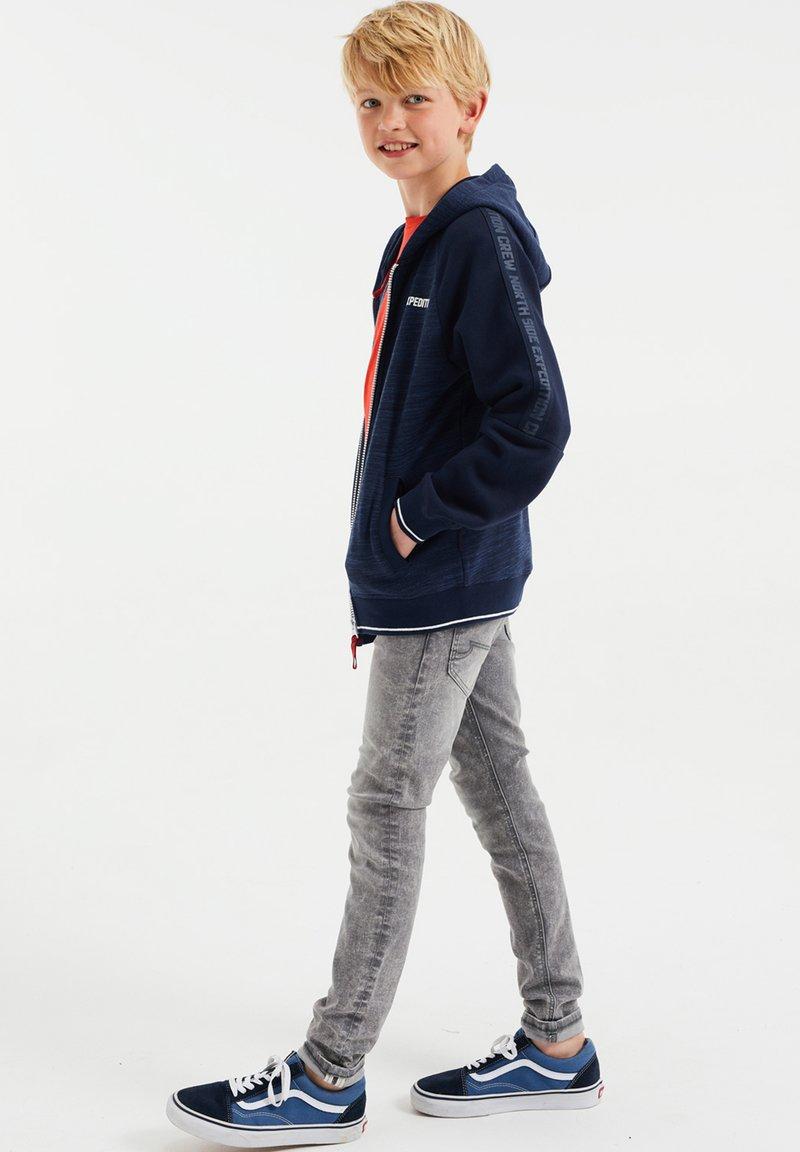 WE Fashion - Sweater met rits - blue