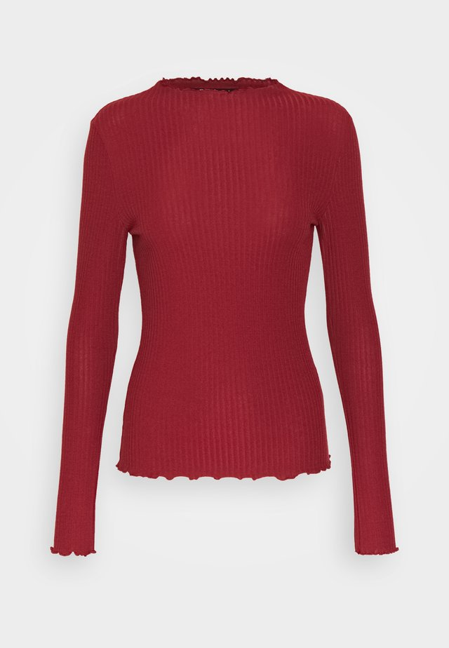 ONLEMMA HIGH NECK  - Long sleeved top - merlot