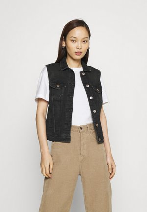 ONLTIA VEST LIFE  - Vest - black denim