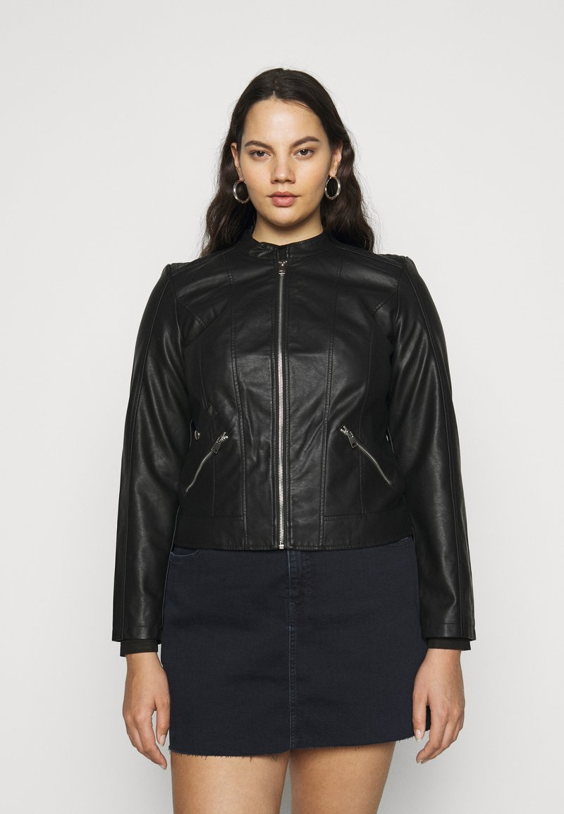 Vero Moda Curve - VMKHLOE   - Faux leather jacket - black