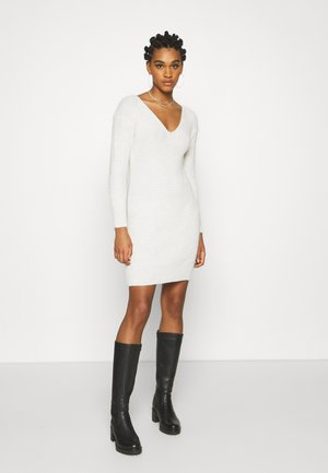 TIE BACK DRESS - Jumper dress - oatmeal