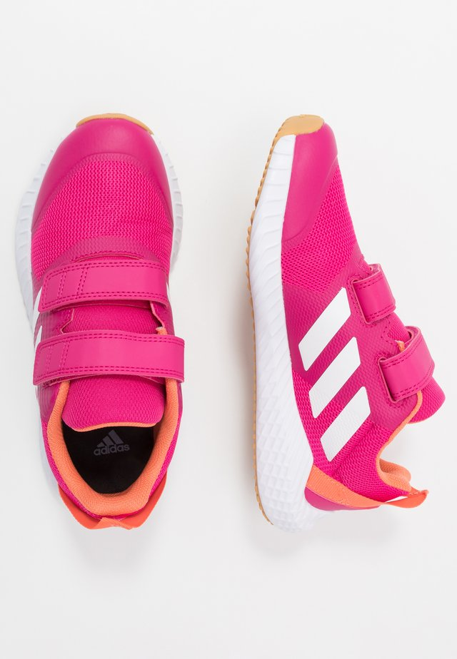 FORTAGYM RUNNING SHOES - Neutral running shoes - real magenta/footwear white/semi coral