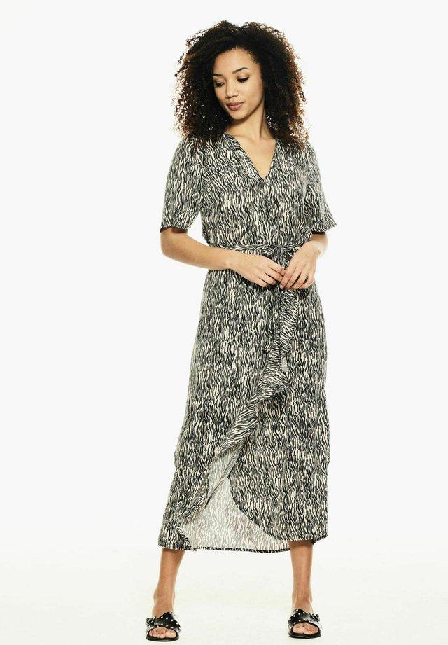 WRAP WITH ZEBRA PRINT - Korte jurk - black
