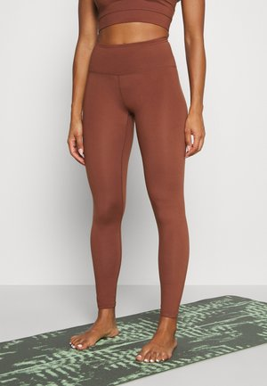 SPORT LEGGINGS - Tights - brown medium dusty
