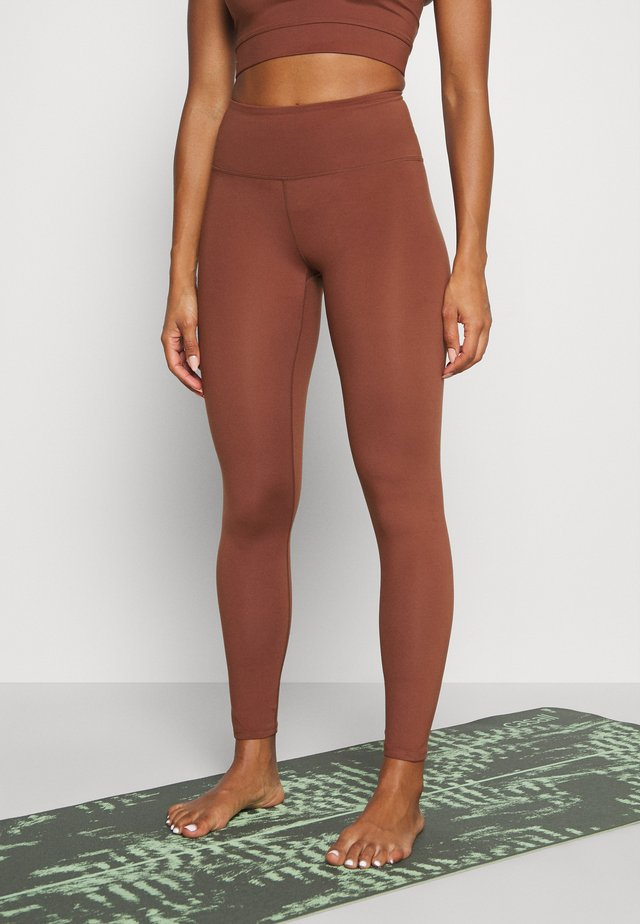 SPORT LEGGINGS - Collants - brown medium dusty