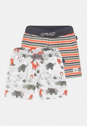 2 PACK  - Shorts - multi-coloured/orange