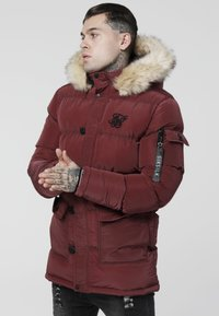 SIKSILK - PUFF - Winter coat - burgundy - 0