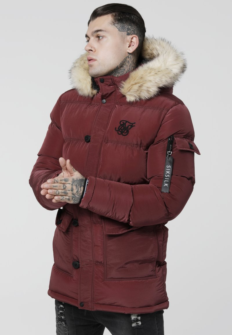 SIKSILK - PUFF - Winter coat - burgundy