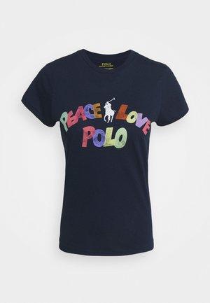SHORT SLEEVE - T-shirt z nadrukiem - dark blue