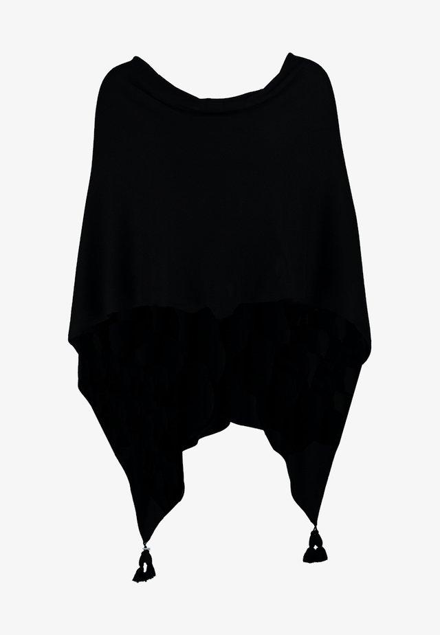 PONCHO - Cape - black