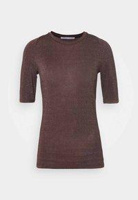 UBA - Basic T-shirt - brown