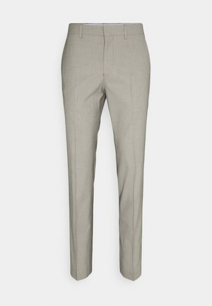 SLHSLIM MAZELOGAN - Suit trousers - sand