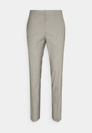 SLHSLIM MAZELOGAN - Pantalón de traje - sand