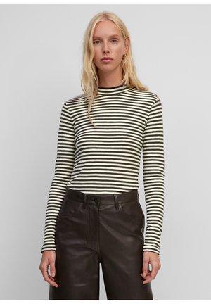 Long sleeved top - multi/brown