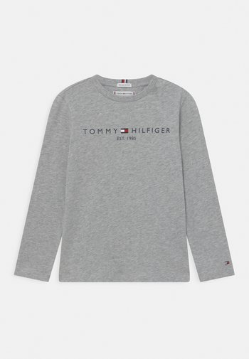 ESSENTIAL TEE UNISEX - Topper langermet - light grey heather