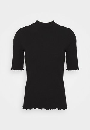 SLFANNA CREW NECK TEE - Basic T-shirt - black