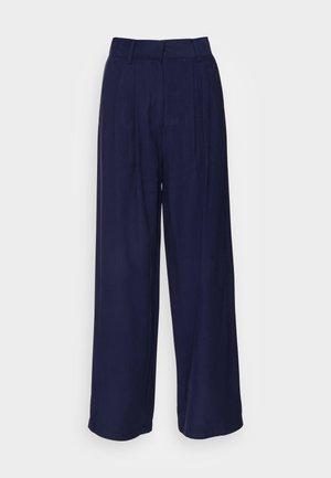 Basic wide leg pants - Trousers - dark blue