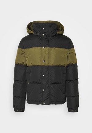 DOME JACKET - Down jacket - black/sage green
