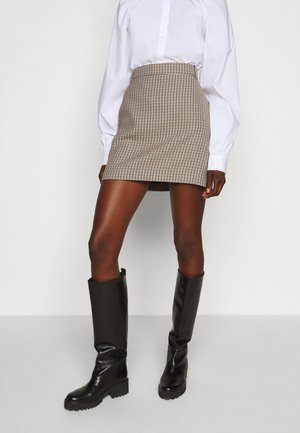 CHARITON CHECK - Mini skirt - moon dust