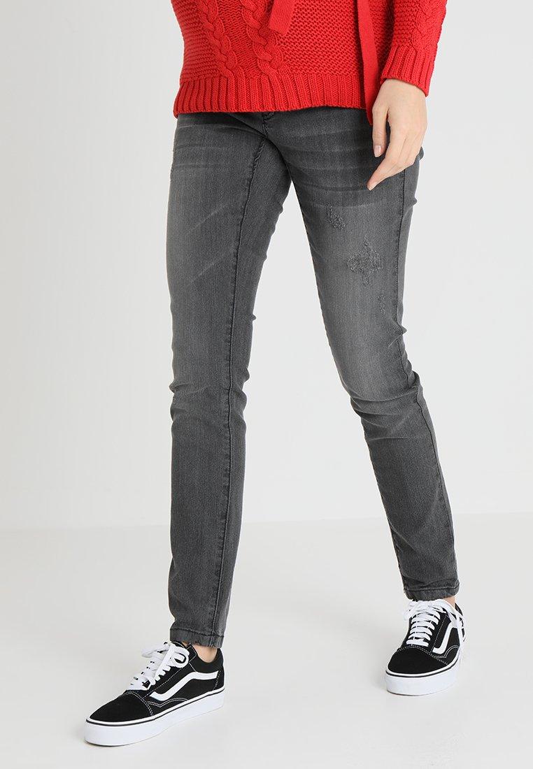 MAMALICIOUS - MLJULIA WASHED - Slim fit jeans - medium grey denim