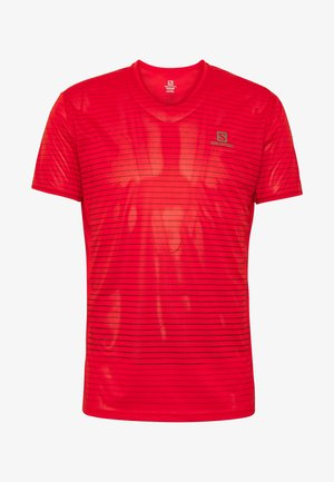 SENSE TEE  - Print T-shirt - goji berry/red dahlia