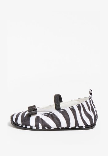 Ankle strap ballet pumps - mehrfarbig weiß