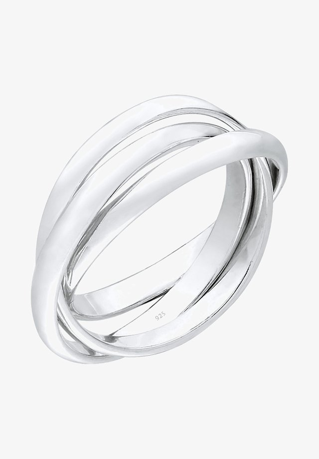 TRIO BASIC - Bague - silberfarben