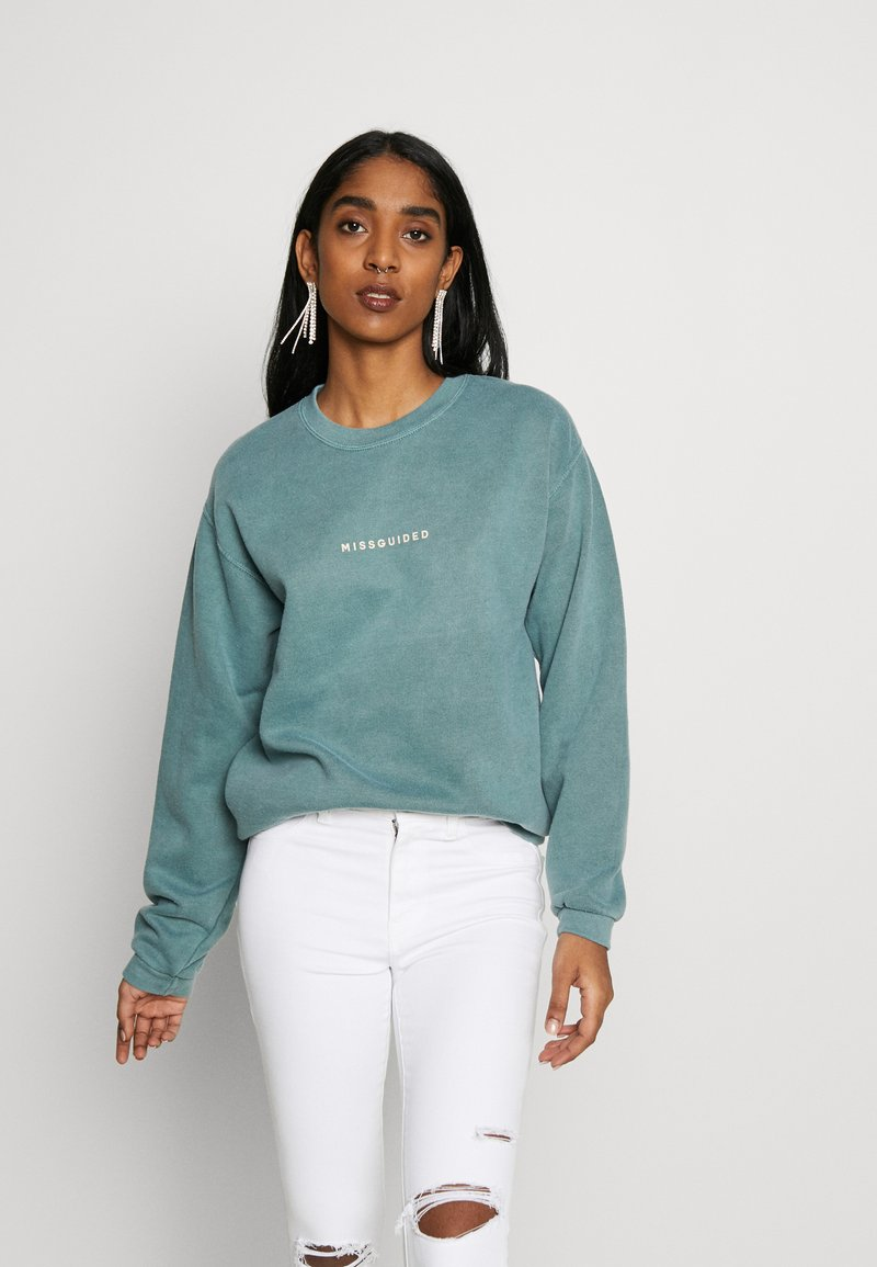 Missguided - WASHED - Sweatshirt - green